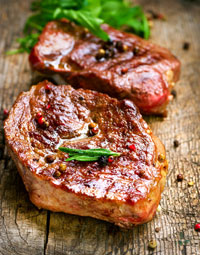 Eiweißreiches Steak