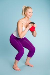 Kniebeugen mit Kettlebell