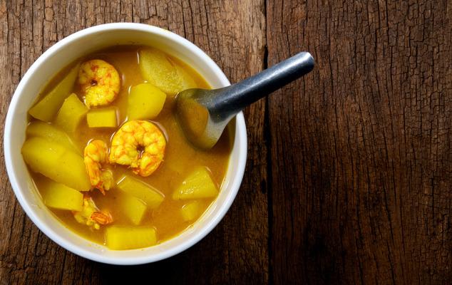 Papaya-Garnelen-Suppe