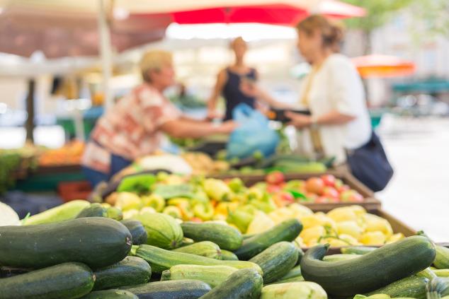 Regionale Lebensmittel vom Wochenmarkt