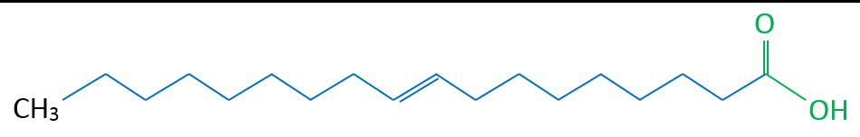 Elaidinsäure Skelettformel