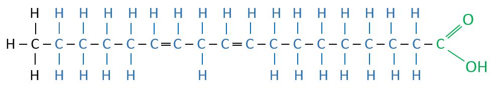 Linolsäure Valenstrichformel
