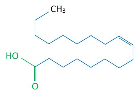 Ölsäure Skelettformel