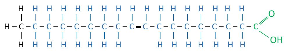 Ölsäure Valenzstrichformel