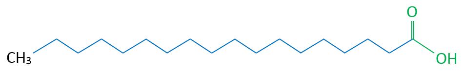 Stearinsäure Skelettformel