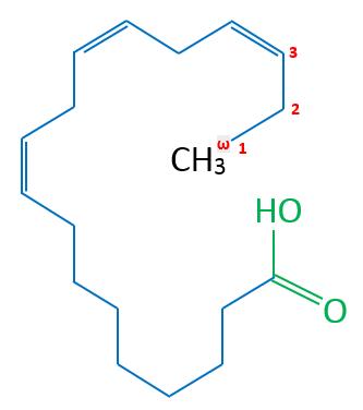 Alpha-Linolensäure Skelettformel