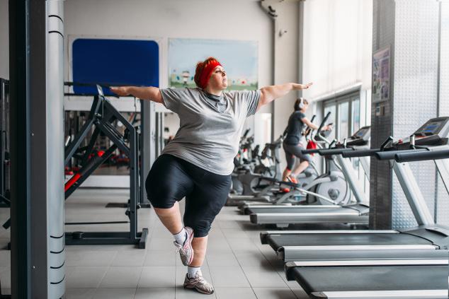 Dick ins Fitnessstudio
