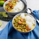 Veganes Kichererbsen-Curry mit Kokosmilch und Reis