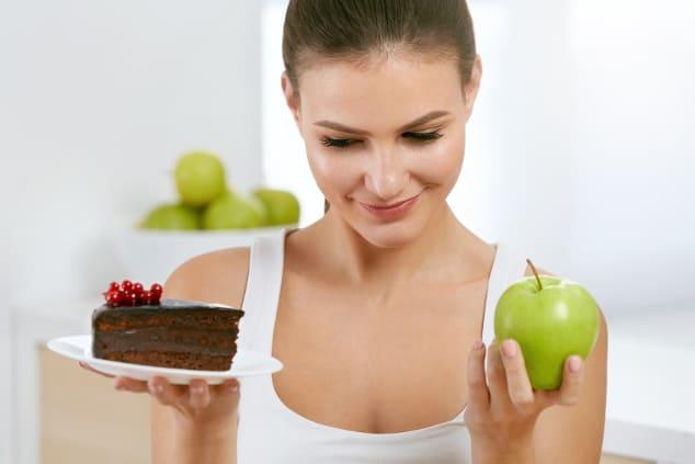 Schokokuchen oder Apfel?