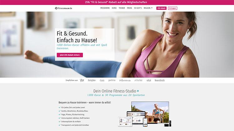 Online-Gym von FitnessRAUM